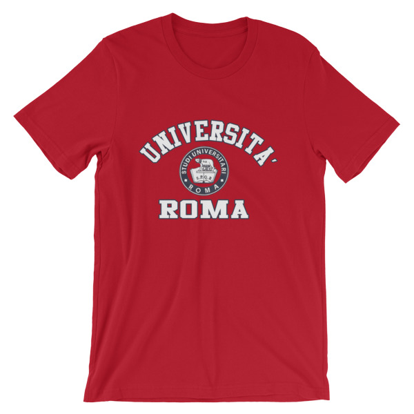 mockup b2e58407 - Universita Roma Short-Sleeve Unisex T-Shirt