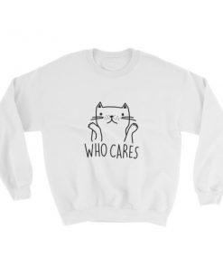 mockup f24c1a52 247x296 - who cares cat Sweatshirt