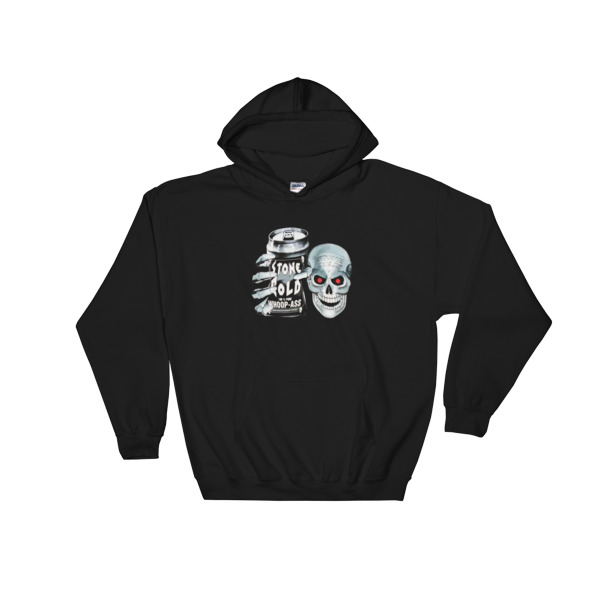 Stone Cold Steve Austin 100% Pure Whoop Ass Skull Hooded Sweatshirt