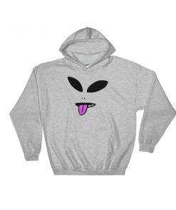 Alien Face Hooded Sweatshirt