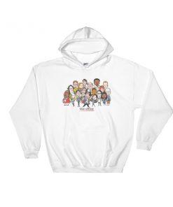 04f91185c The Office cast cartoon Hooded Sweatshirt - Cheap Graphic Tees