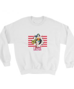 mockup bffa2f86 247x296 - Wonder Woman I Love Gaultier Sweatshirt