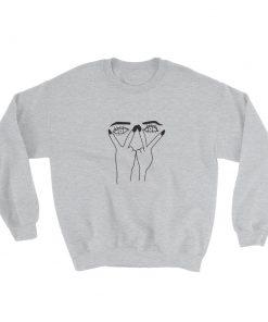 mockup 53959364 247x296 - Eye Print Ripped Sweatshirt