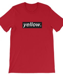 Yellow Letter Short Sleeve Unisex T Shirt