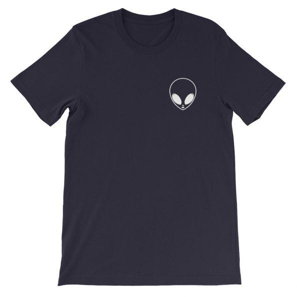 mockup 8999a8c6 595x595 - Alien Face Cute Short-Sleeve Unisex T-Shirt
