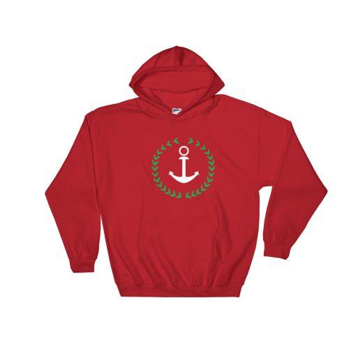 Anchor And Wreath Hooded Sweatshirt