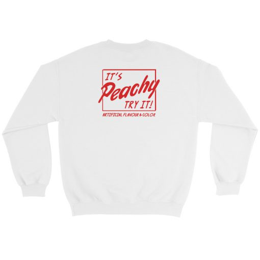 mockup bfd84d80 510x510 - Artificial Flavour And Color It's Peachy Try It Sweatshirt