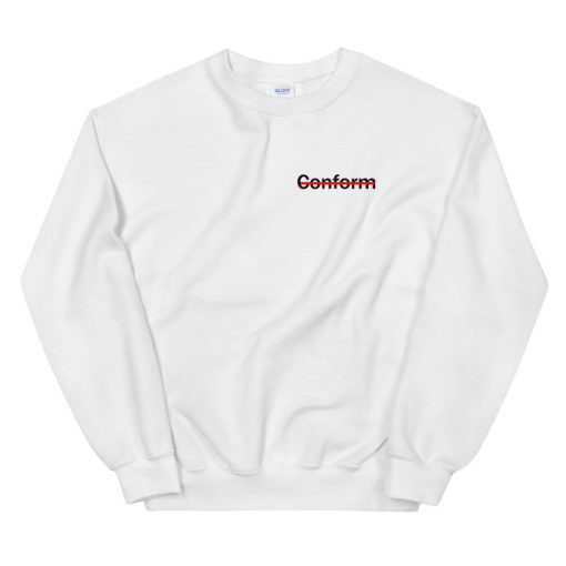 mockup 4b5f3988 510x510 - Never Conform Crossed Out Red Line Sweatshirt