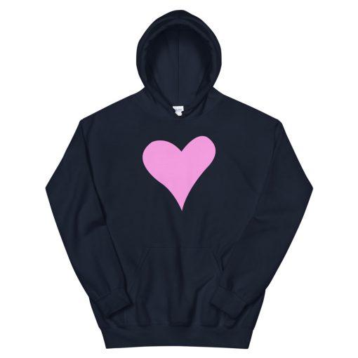 mockup b3806d88 510x510 - Pink Heart Hooded Sweatshirt