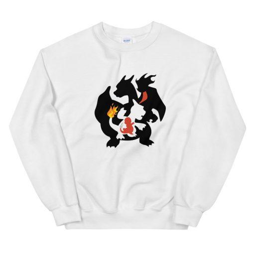 mockup d75670a7 510x510 - Charmander Charmeleon Charizard Unisex Sweatshirt