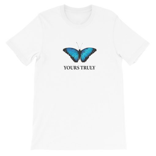 mockup 67045811 510x510 - Yours Truly Blue Butterfly Short-Sleeve Unisex T-Shirt