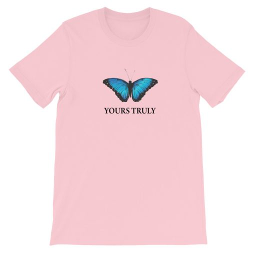 mockup c05f112a 510x510 - Yours Truly Blue Butterfly Short-Sleeve Unisex T-Shirt