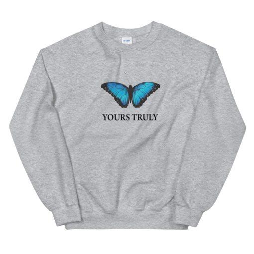 mockup de0f3591 510x510 - Yours Truly Blue Butterfly Unisex Sweatshirt