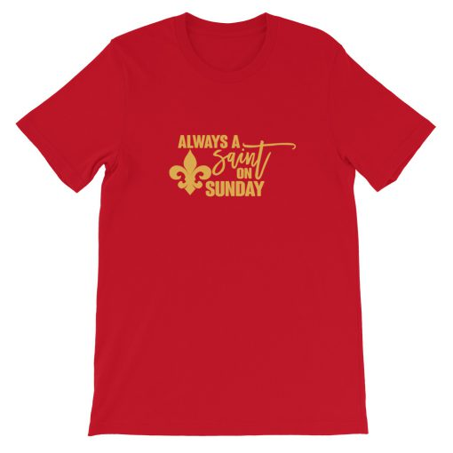 mockup c3dd3e41 510x510 - Always a Saint on Sunday Short-Sleeve Unisex T-Shirt