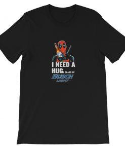 Deadpool I need a huge glass off Busch Light Short-Sleeve Unisex T-Shirt
