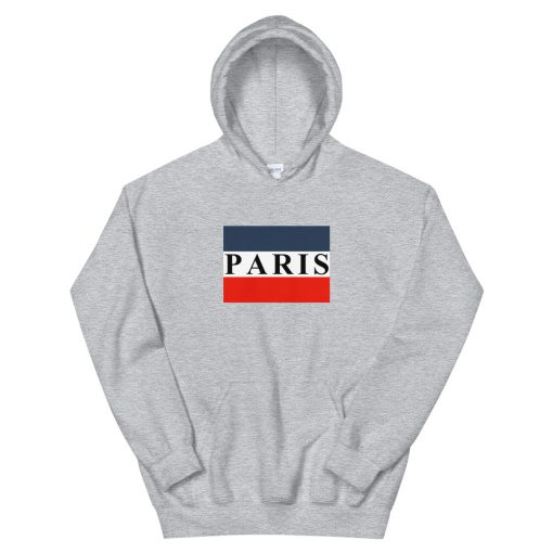 Paris Striped Flag Unisex Hoodie